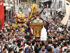 """日本东京夏越大祭""""筑地狮子祭""""_东京旅游_日本自由行"""