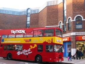 贝尔法斯特随上随下城市旅游观光巴士(含英文讲解)