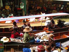 丹嫩沙多水上市场长尾船包船(1小时/1.5小时)